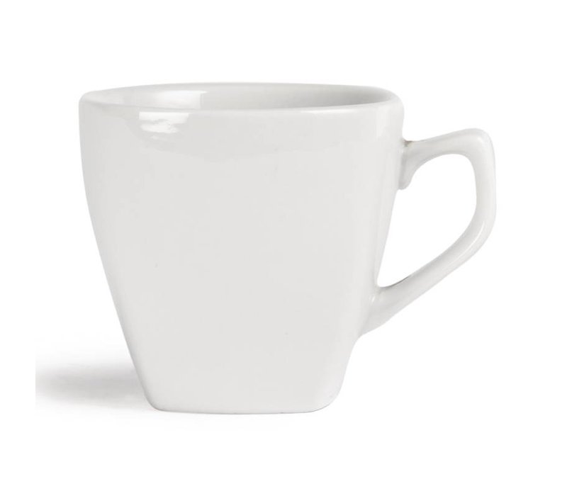 Olympia Koffiekop Afgerond | Olympia Wit Porselein | 210ml | 12 Stuks