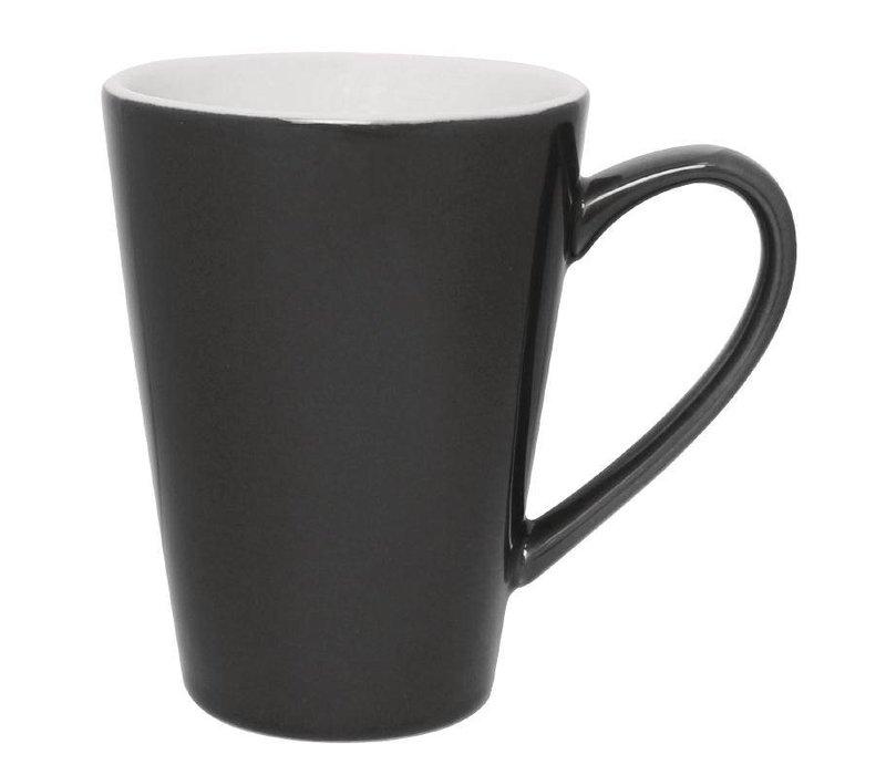 Olympia Latte Beker Grijs | Olympia Porselein | 340ml | 12 Stuks