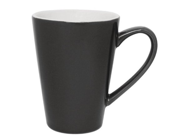 Olympia Latte Beker Grijs | Olympia Porselein | 450ml | 12 Stuks