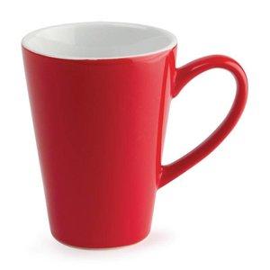 XXLselect Latte Beker Rood | Olympia Porselein | 340ml | 12 Stuks