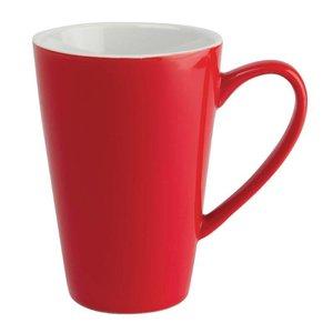 XXLselect Latte Beker Rood | Olympia Porselein | 450ml | 12 Stuks