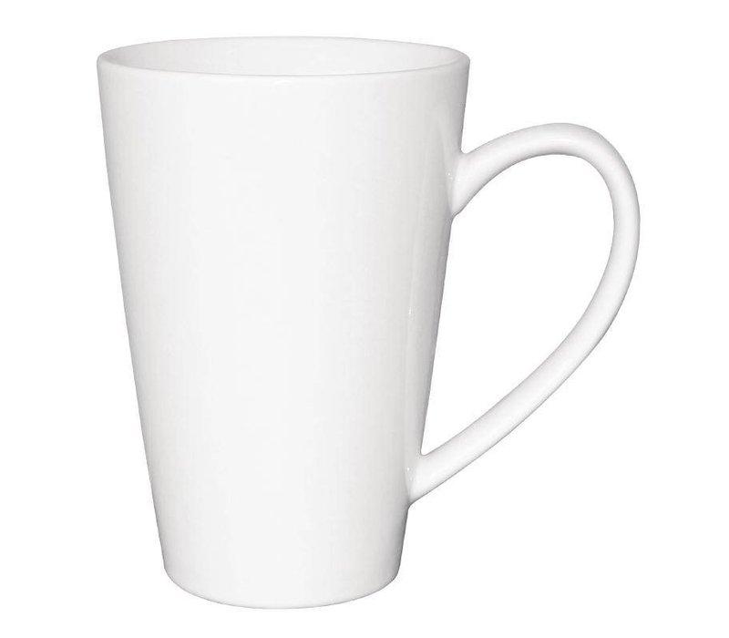 Olympia Latte Beker Wit | Olympia Porselein | 450ml | 12 Stuks