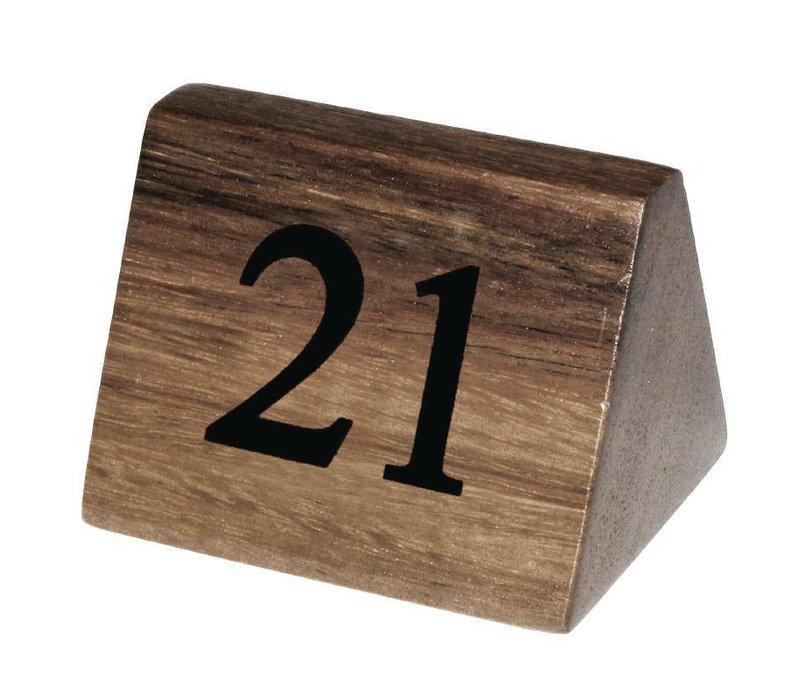Olympia Tafelnummers 21-30 | Massief Hout | 10 Stuks