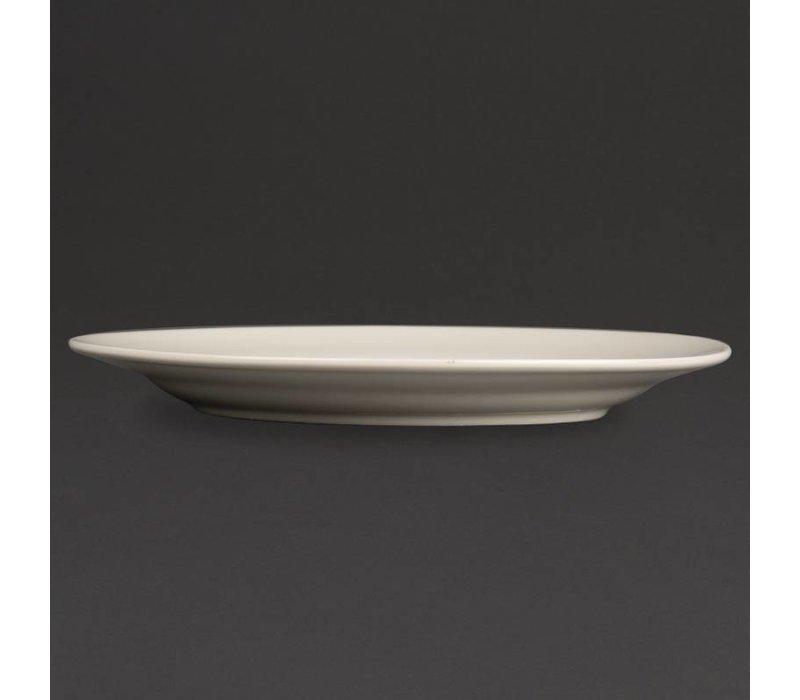Olympia Ivory Bord Brede Rand | Duurzaam Porselein | 150mm | 12 Stuks