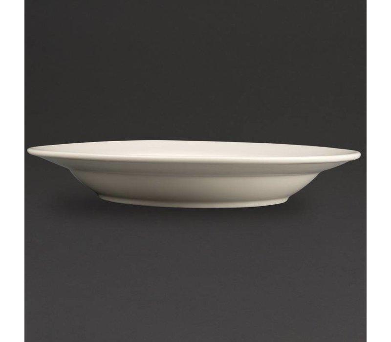 Olympia Ivory Diep Bord | Duurzaam Porselein | Ø270mm | 6 Stuks