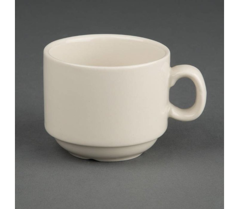 Olympia Ivory Espressokop | Duurzaam Porselein | 90ml | 12 Stuks