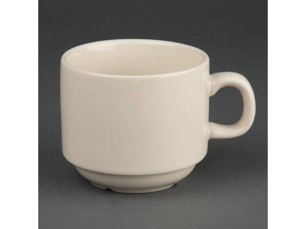Olympia Ivory Koffiekop | Duurzaam Porselein | 210ml | 12 Stuks