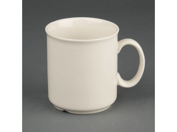 Olympia Ivory Mok | Duurzaam Porselein | 240ml | 12 Stuks