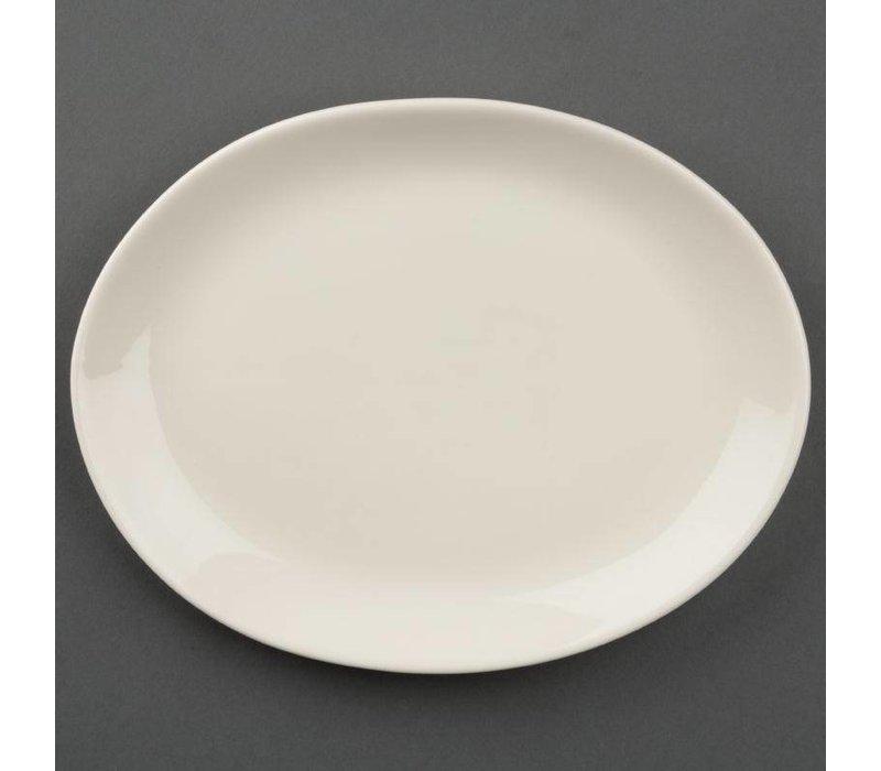 Olympia Ivory Ovale Schaal | Duurzaam Porselein | 200mm | 12 Stuks