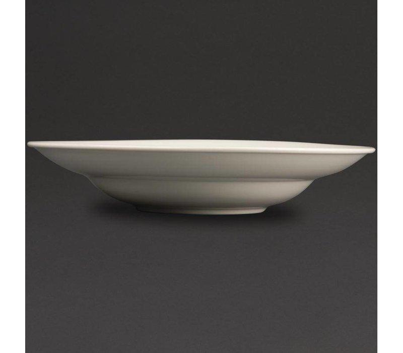 Olympia Ivory Pastabord | Duurzaam Porselein | 310mm | 6 Stuks
