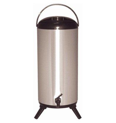 XXLselect Drink dispenser   Double walled stainless steel   faucet   Ø230mm   14 liter