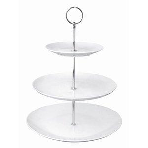 XXLselect High Tea Etagere | 3 Porseleinen Borden | Ø152/229/270x341(h)mm