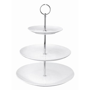 XXLselect High Tea Etagere | 3 Porseleinen Borden | Ø50/227/265x341(h)mm