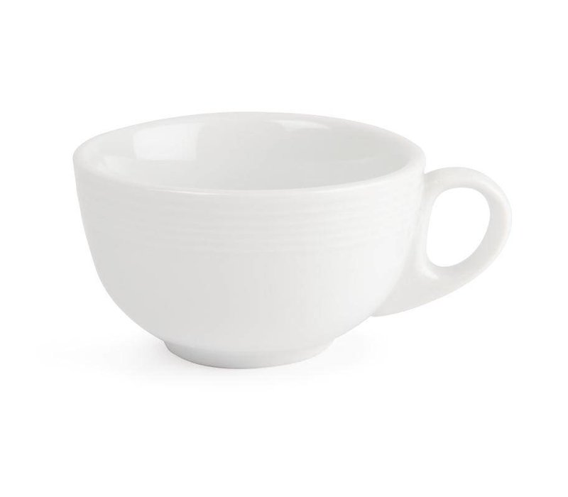 Olympia Cappuccinokop | Linear Wit Porselein | 210ml | 12 Stuks