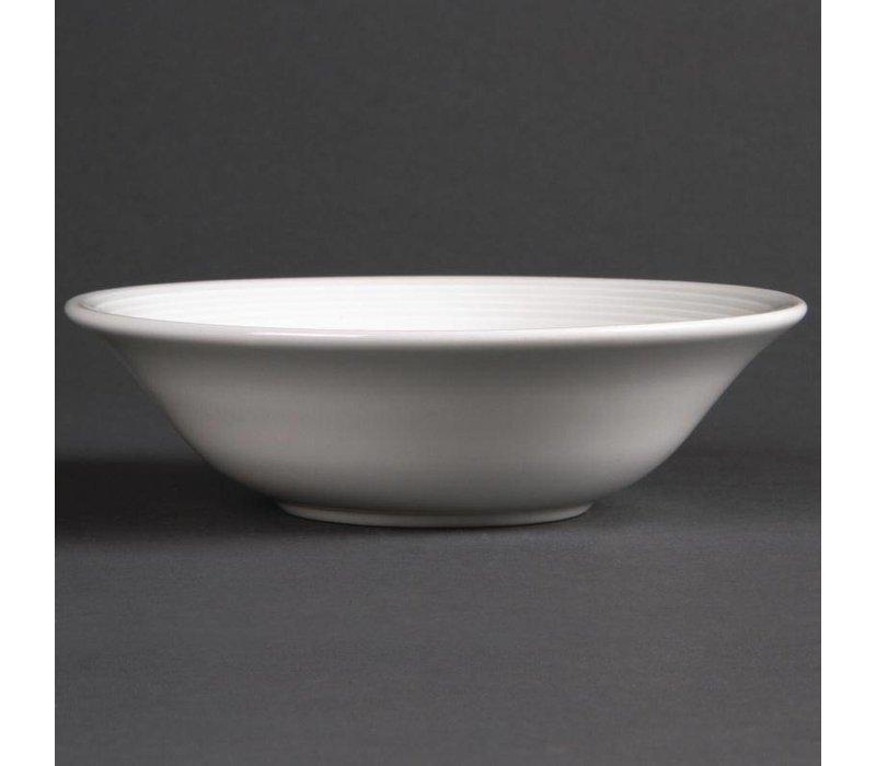 Olympia Dessertschaaltje | Linear Wit Porselein | 150mm | 12 Stuks