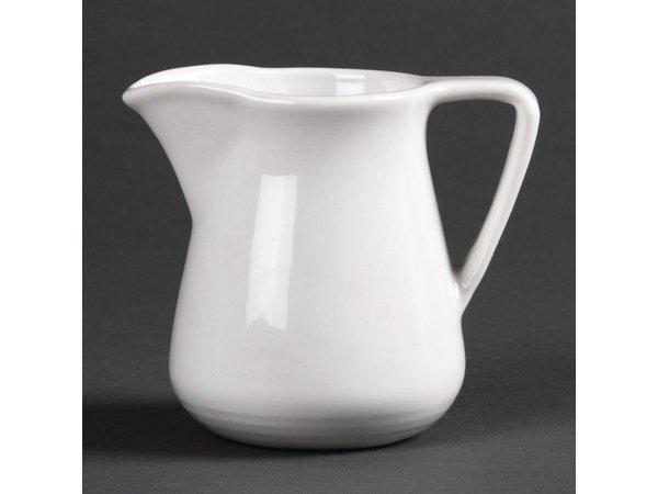 Olympia Melkkan | Linear Wit Porselein | 150ml | 12 Stuks