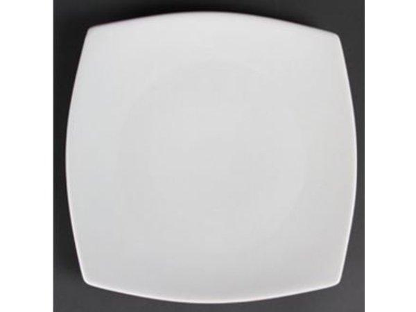 Olympia Abgerundete Platte | Olympia Weißes Porzellan | 185mm | 12 Stück