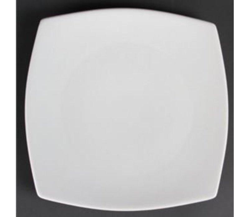 Olympia Bord Afgerond | Olympia Wit Porselein | 305mm | 6 Stuks
