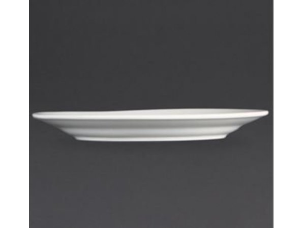 Olympia Bord Broad Border | Olympia White Porcelain | 200mm | 12 pieces