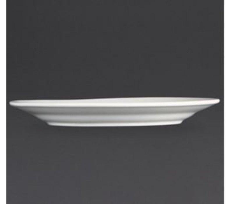 Olympia BORD Broad Grenze | Olympia Weißes Porzellan | 200mm | 12 Stück