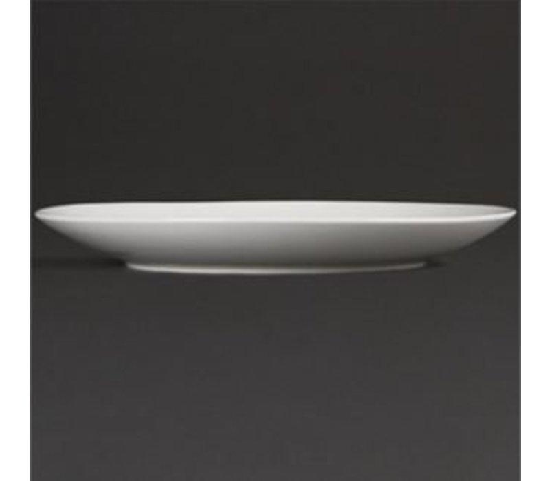 Olympia Coupe Platte | Olympia Weißes Porzellan | 150mm | 12 Stück