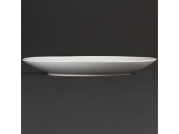 Olympia Coupe Platte | Olympia Weißes Porzellan | 200mm | 12 Stück