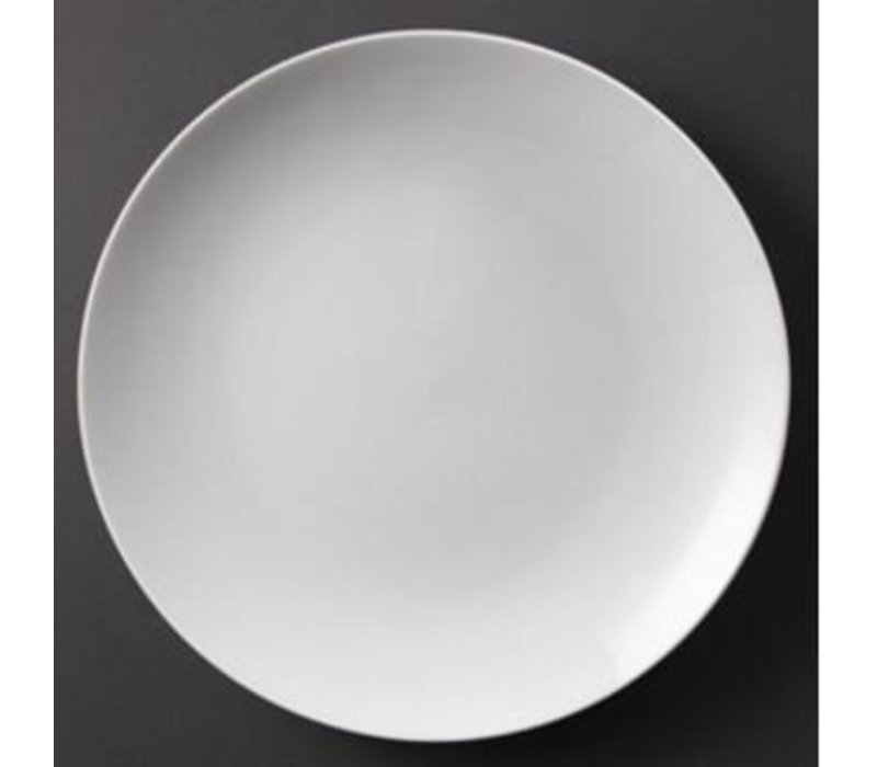Olympia Coupe Platte | Olympia Weißes Porzellan | 310mm | 6 Stück