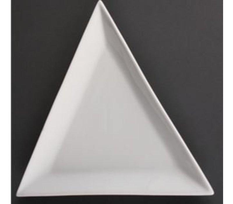Olympia Melden Dreieck | Olympia Weißes Porzellan | 255mm | 6 Stück