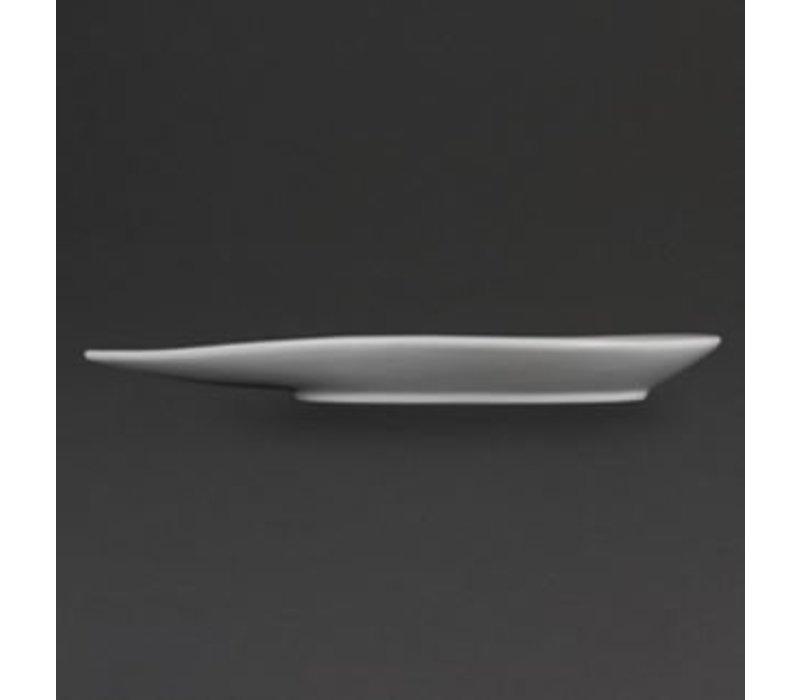 Olympia Bord Druppelvorm | Olympia Wit Porselein | 310x245x32mm | 4 Stuks