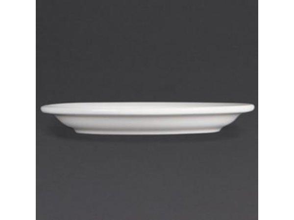Olympia Bord Smalle Rand | Olympia Wit Porselein | 250mm | 12 Stuks