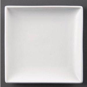 XXLselect Brett Square   Olympia Weißes Porzellan   180mm   12 Stück