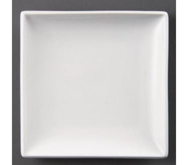 Olympia Brett Square | Olympia Weißes Porzellan | 180mm | 12 Stück