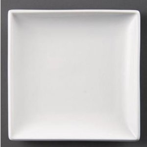 XXLselect Board Square | Olympia White Porcelain | 250mm | 4 pieces