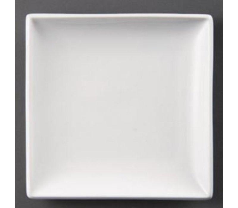 Olympia Bord Vierkant | Olympia Wit Porselein | 250mm | 4 Stuks
