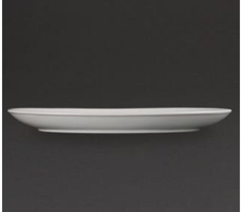 Olympia Diepe Ovale Schaal | Olympia Wit Porselein | 365mm | 2 Stuks