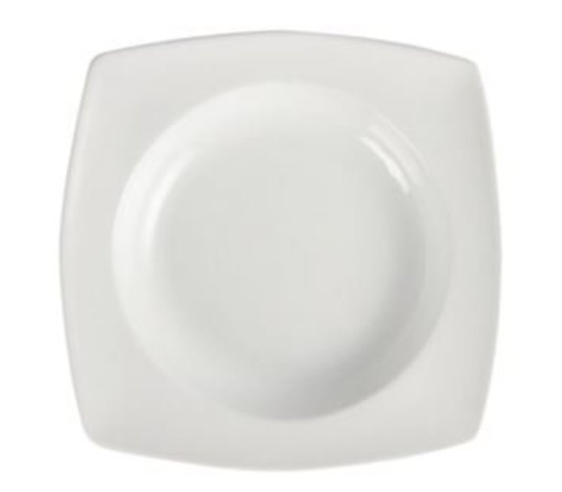 Olympia Come Rounded Square | Olympia White Porcelain | 250x250mm | 4 pieces