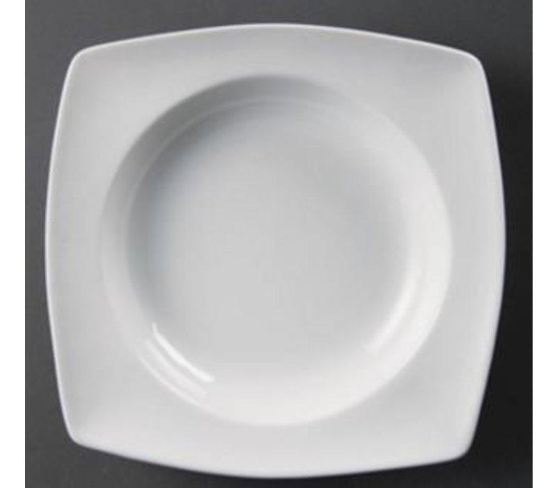 Olympia Kommen Abgerundete Square | Olympia Weißes Porzellan | 250x250mm | 4 Stück
