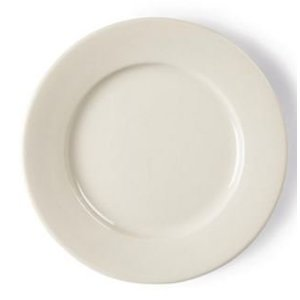 XXLselect Ivory Plate Broad Border   Durable porcelain   200mm   12 pieces