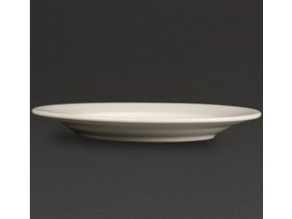 Olympia Ivory Bord Brede Rand | Duurzaam Porselein | 310mm | 6 Stuks