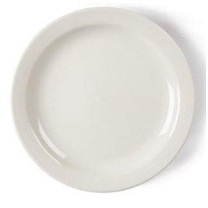 XXLselect Ivory Plate Narrow Edge | Durable porcelain | Ø180mm | 12 pieces