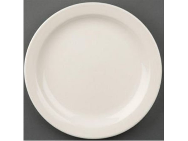 Olympia Ivory Plate Narrow Edge | Durable porcelain | Ø180mm | 12 pieces