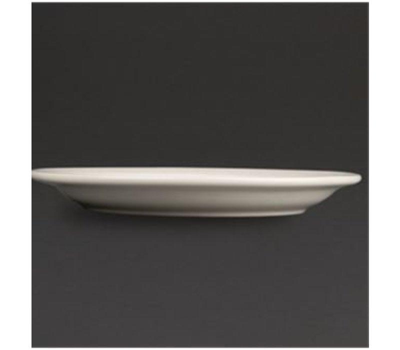 Olympia Ivory Bord Smalle Rand | Duurzaam Porselein | Ø200mm | 12 Stuks