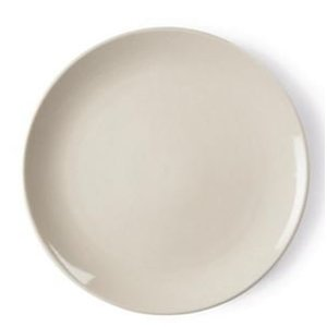 XXLselect Ivory Coupe Platte | Durable Porzellan | Ø200mm | 12 Stück