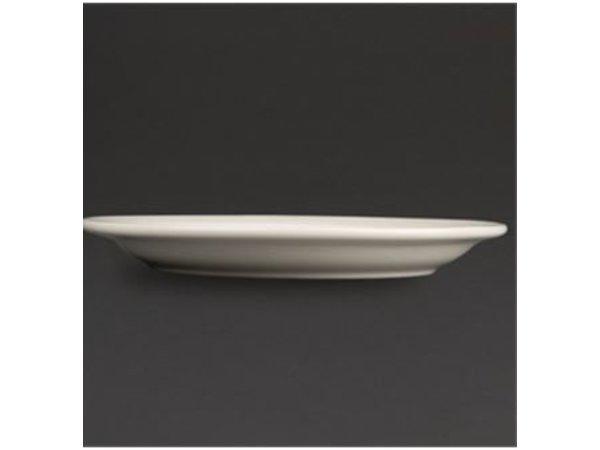 Olympia Ivory Coupe Platte | Durable Porzellan | Ø310mm | 6 Stück