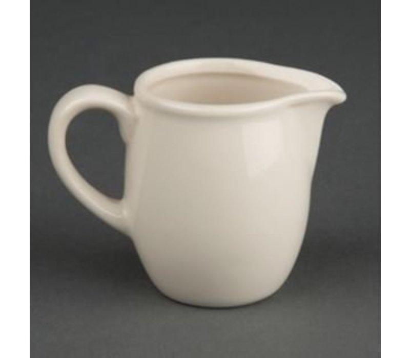 Olympia Ivory Melkkannetje | Durable Porzellan | 90ml | 6 Stück