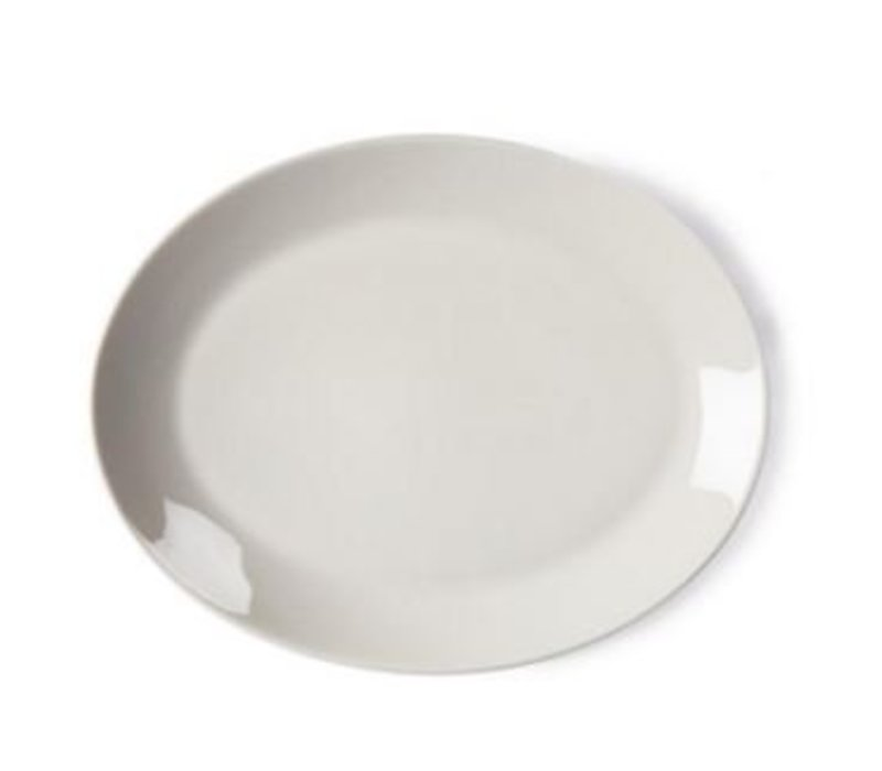 Olympia Ivory Oval Scale | Durable porcelain | 330mm | 6 pieces