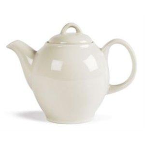 XXLselect Ivory Teapot | Durable porcelain | 750ml | 4 pieces
