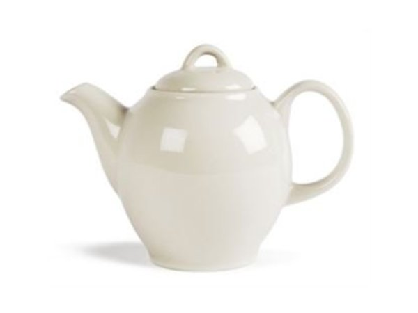 Olympia Ivory Teapot | Durable porcelain | 750ml | 4 pieces