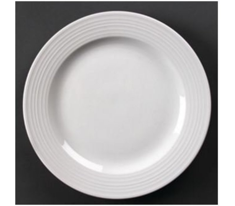 Olympia Bord Broad Border | Linear White Porcelain | 200mm | 12 pieces