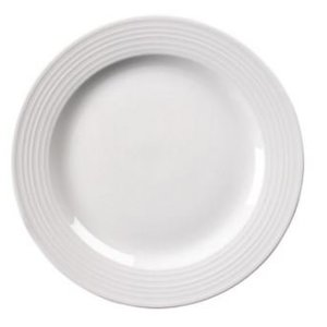 XXLselect Bord Broad Border | Linear White Porcelain | 200mm | 12 pieces